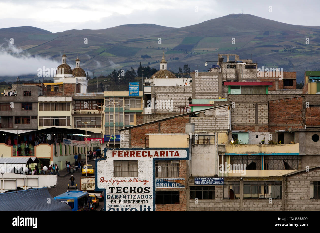 Latacunga, Provinz Cotopaxi in Ecuador Stockbild