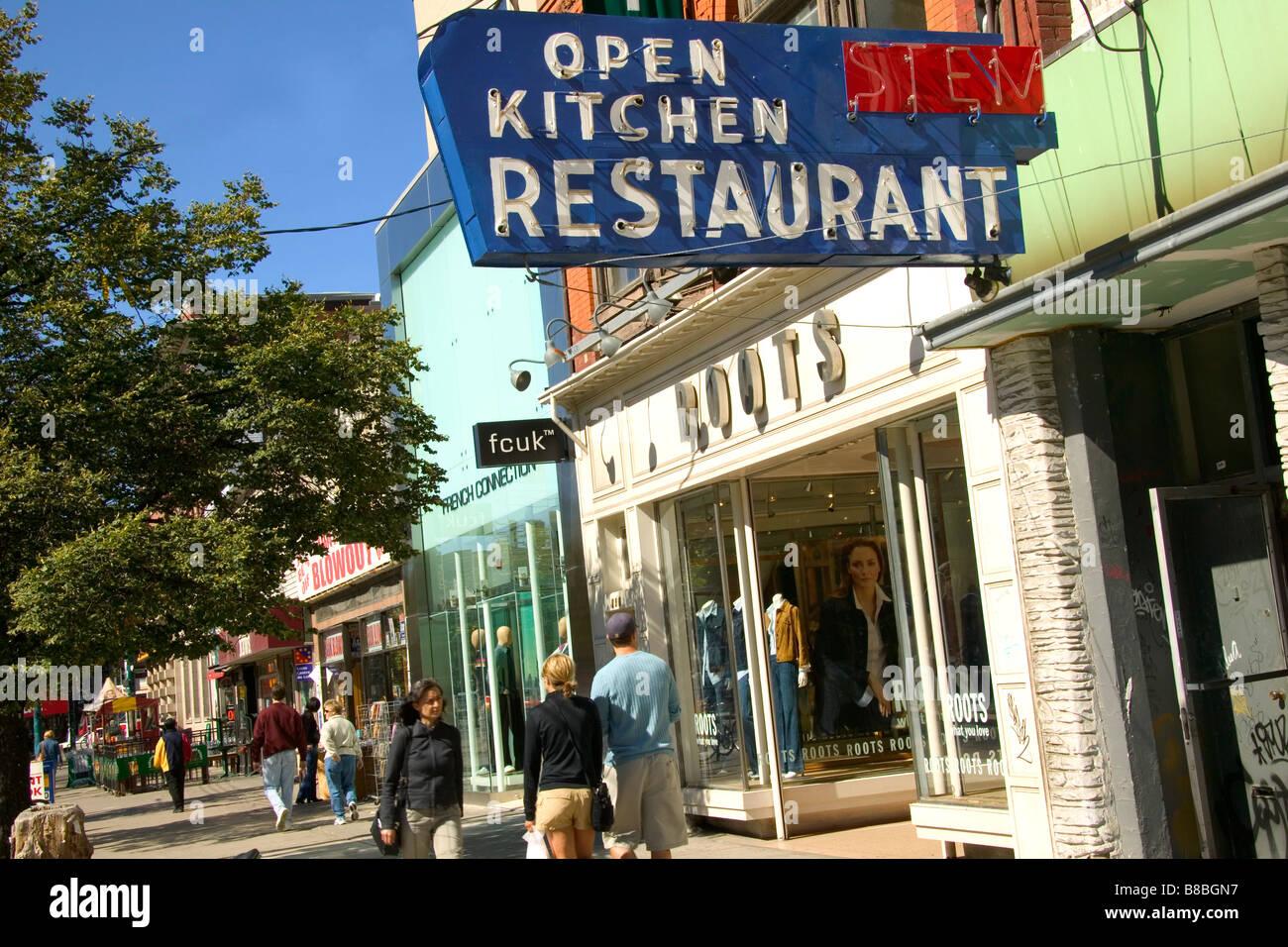 Straßenbild, Queen Street, Toronto, Ontario Stockbild