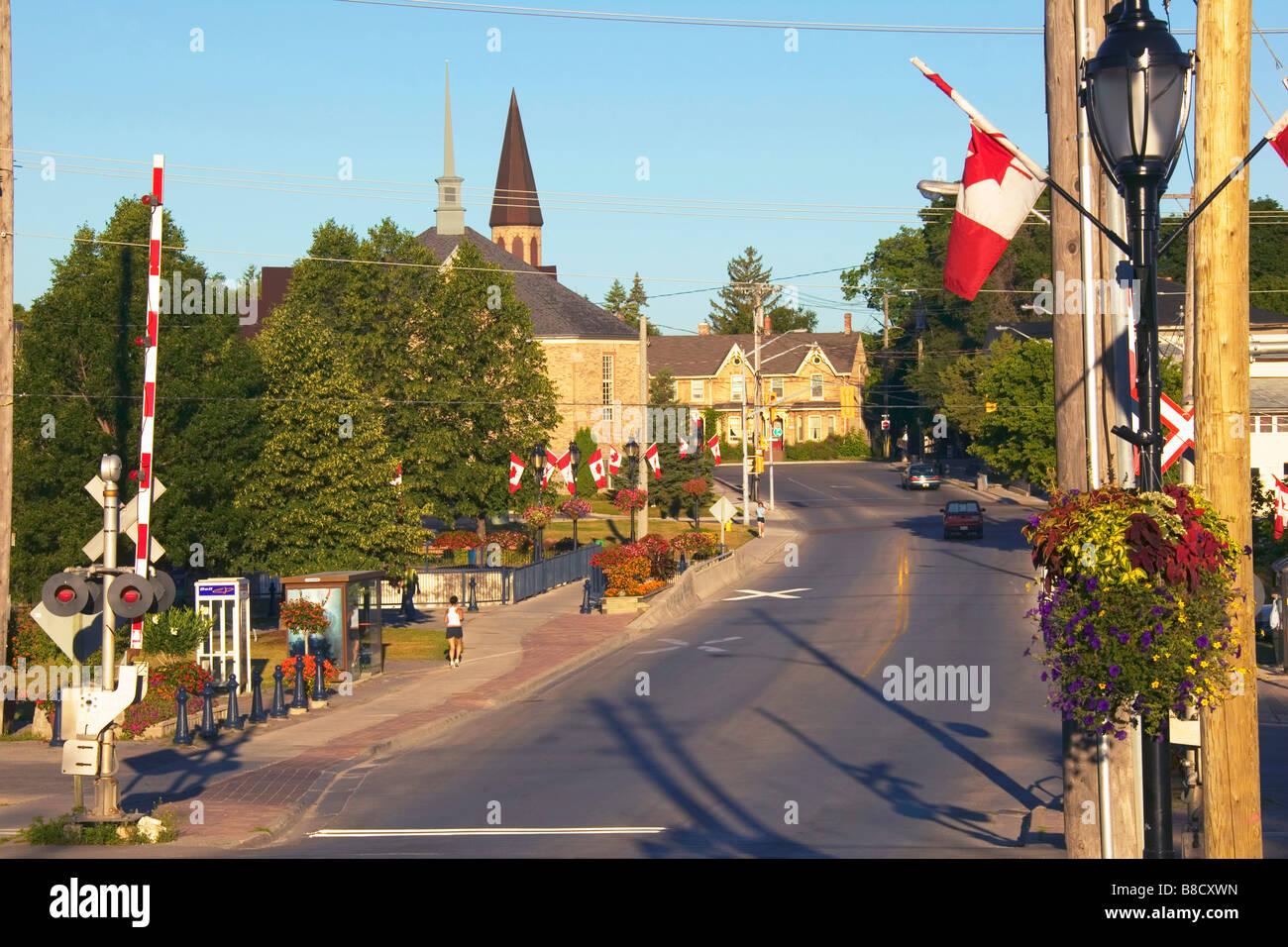 Straßenbild, Newmarket, Ontario Stockbild