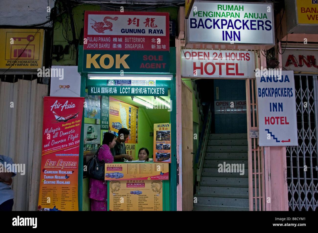 Malaysischen Kuala Lumpur Malaysia billige Budget Backpackers Inn Hotel Stadtzentrum in der Nähe von Chinatown Stockbild