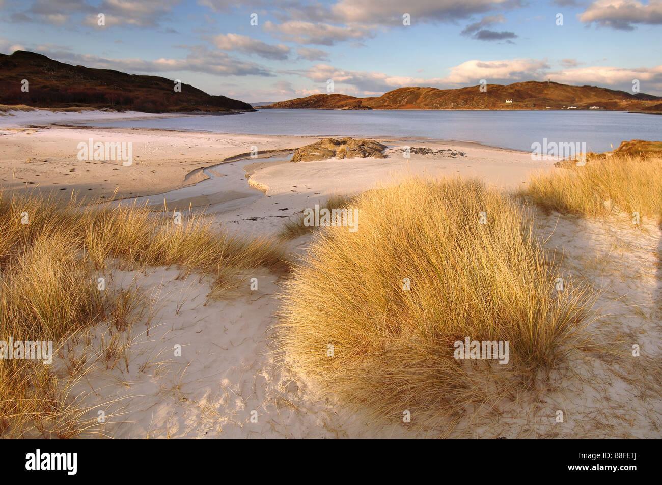 Silver Sands von Morar Stockbild
