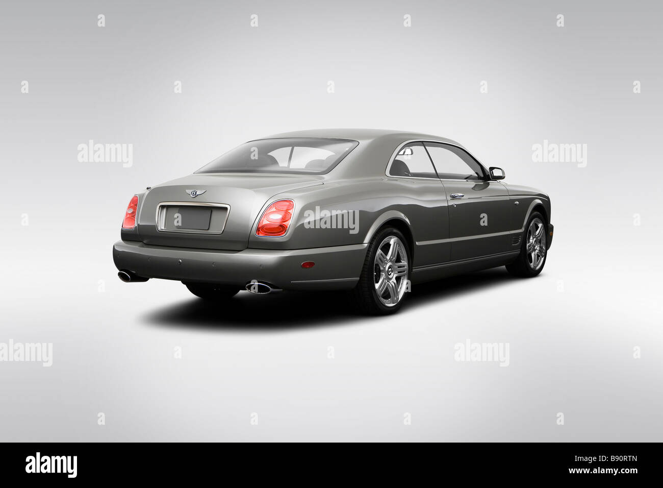 2009 Bentley Brooklands in grau - hintere Winkel Ansicht Stockbild