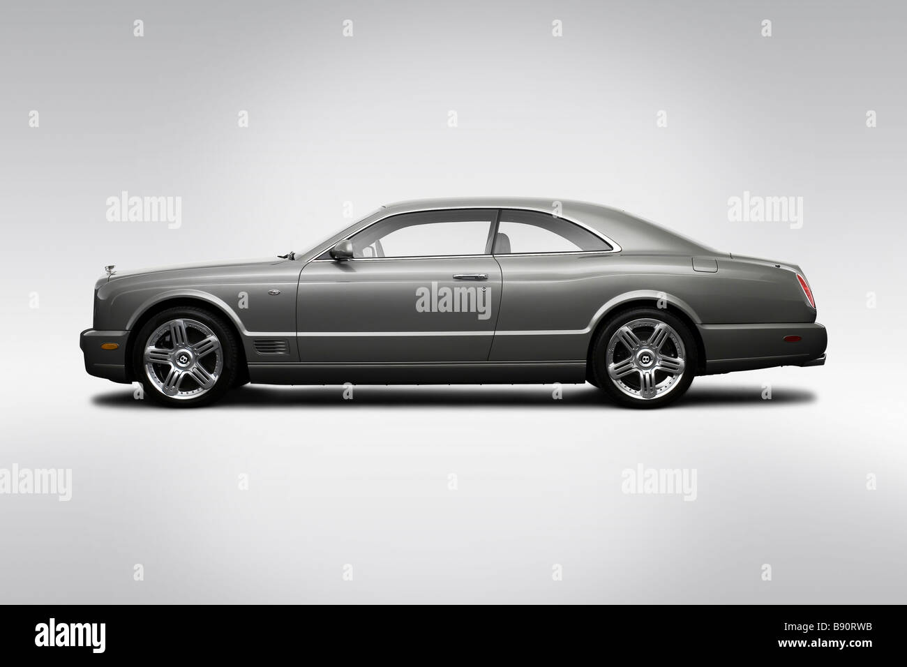 2009 Bentley Brooklands in grau - Treiber Seitenprofil Stockbild