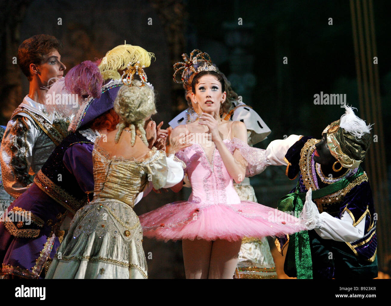 Uraufführung der Neufassung des Balletts Dornröschen von Peter Tschaikowsky produziert von akademischen Stockbild