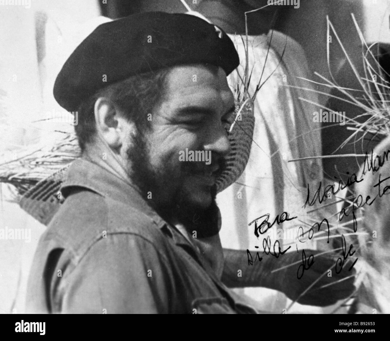 Der lateinamerikanische revolutionäre Teilnehmer in der kubanischen Revolution Ernesto Che Gevara Stockbild