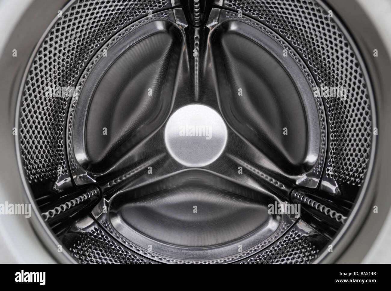 Waschmaschine im Inneren Stockbild