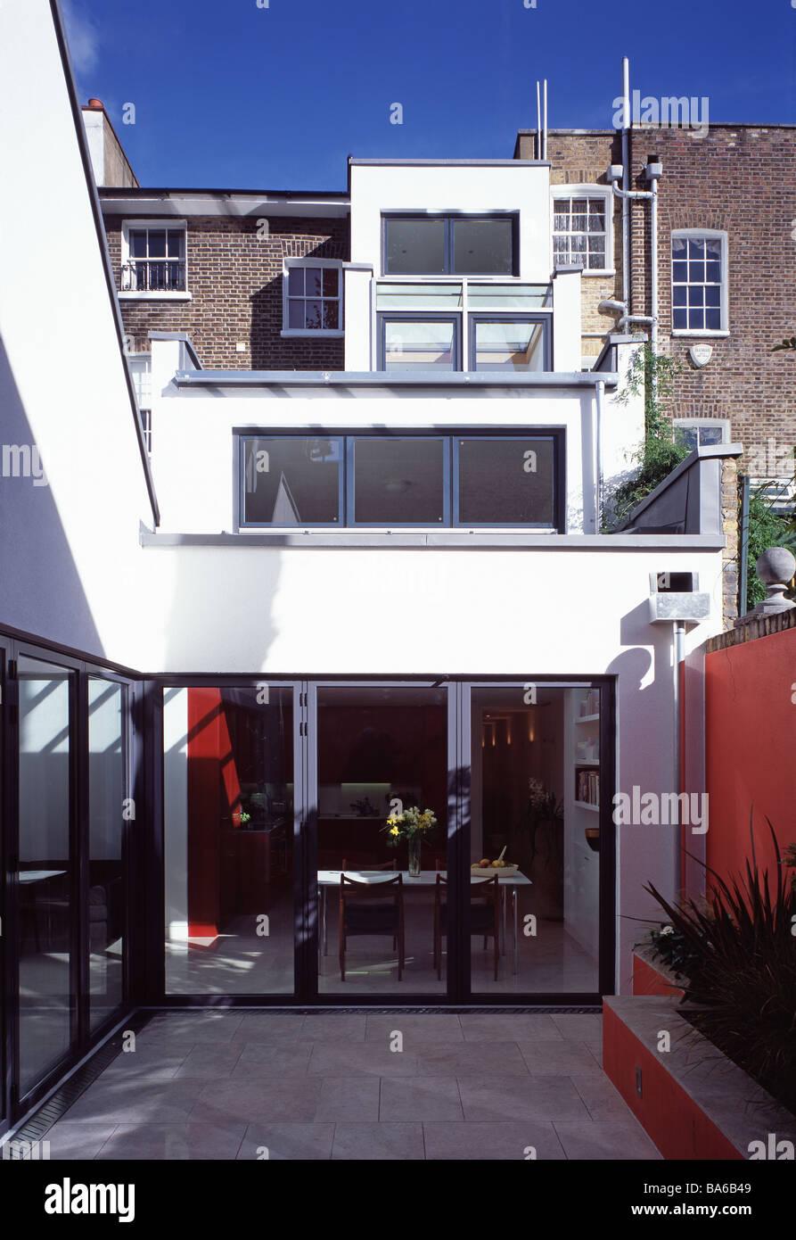 Äußeren Hof des Lücke-Haus im georgianischen Terrasse, London, UK ...