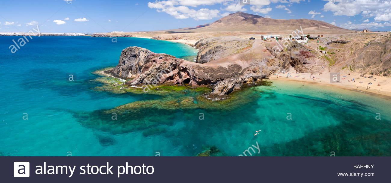 Playa de Papagayo Lanzarote Kanaren Spanien Stockbild