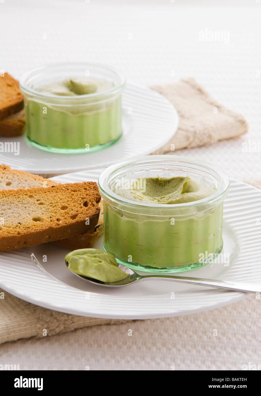 Avocado-Mousse Stockbild