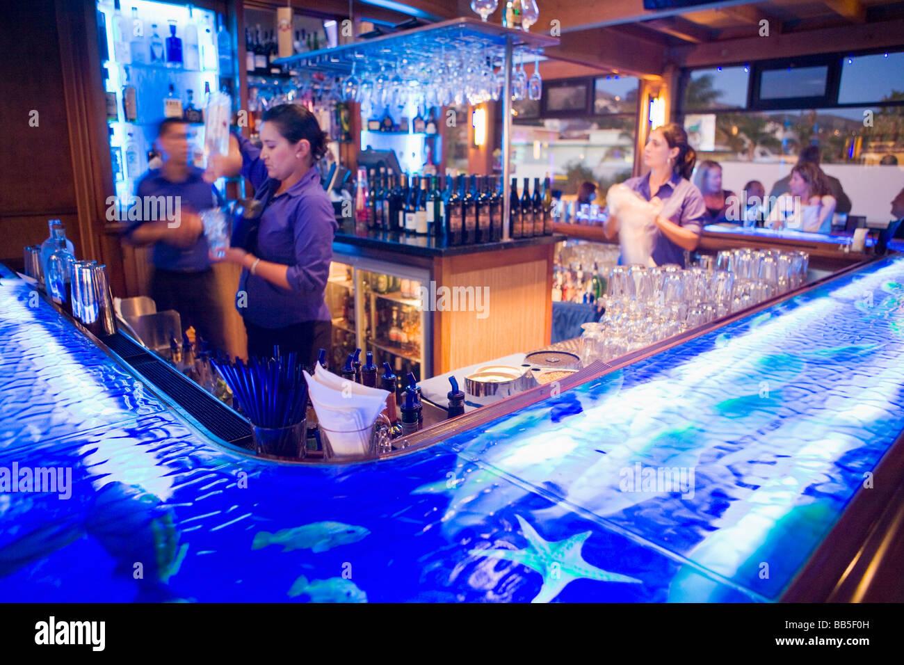 H2O Bar Wasserzeichen Restaurant Ventura Kalifornien Vereinigte Staaten von Amerika Stockbild