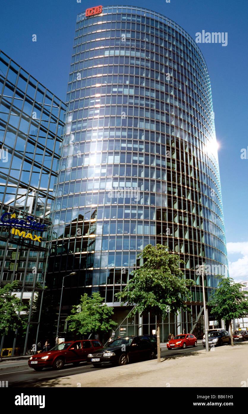 16. Mai 2009 - BahnTower, Konzernzentrale der Deutschen Bahn AG, am Potsdamer Platz in der deutschen Hauptstadt Stockbild