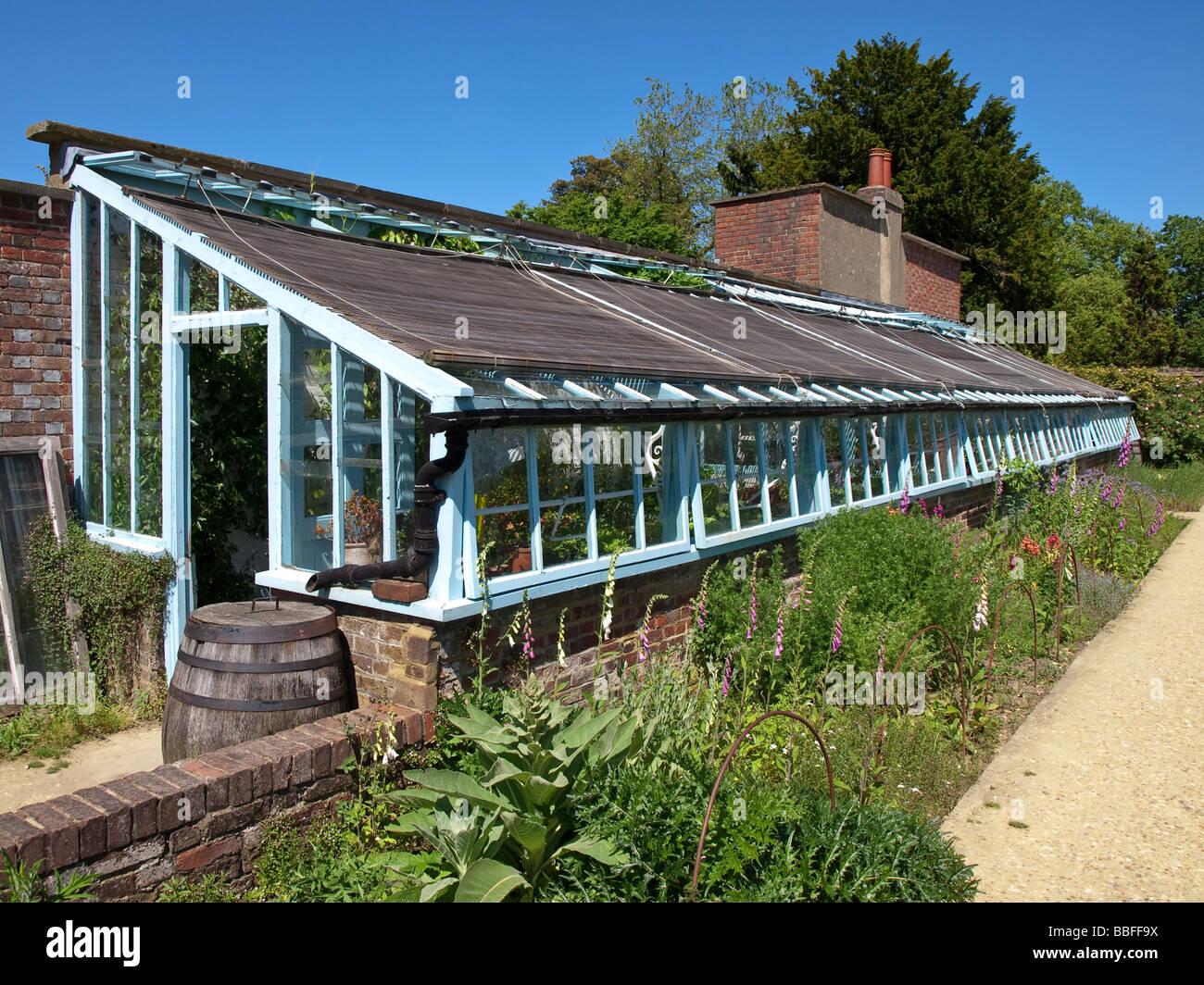 Darwins Gewächshaus (außen) am Haus, Hotel, Bromley, London, UK ...