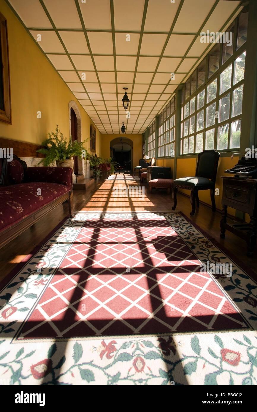 Innenansicht des La Cienega Hotel - Provinz Cotopaxi in Ecuador Stockbild