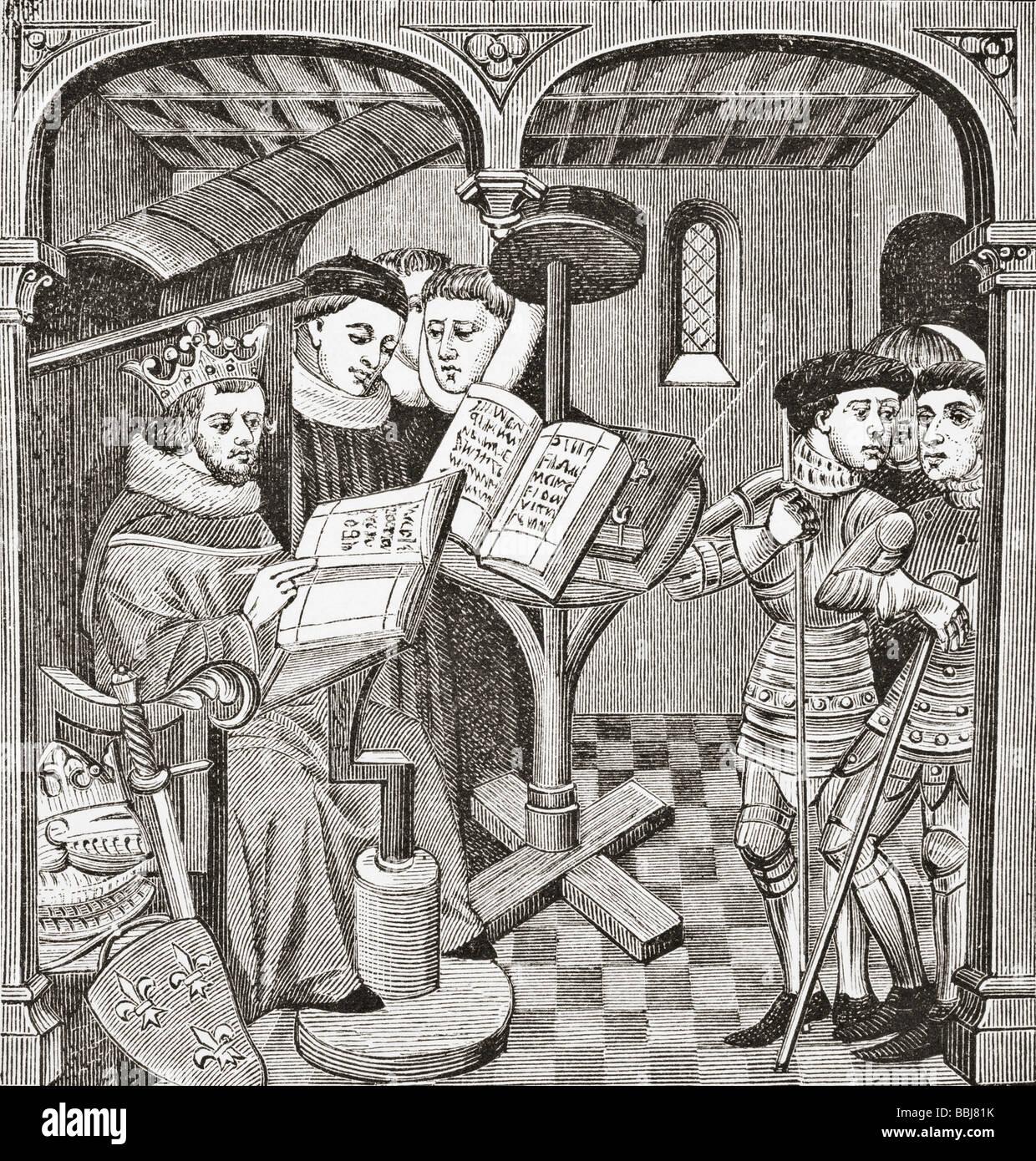 König Robert Sohn von Hugh Capet komponieren Sequenzen und Reaktionen in Lateinamerika Stockbild