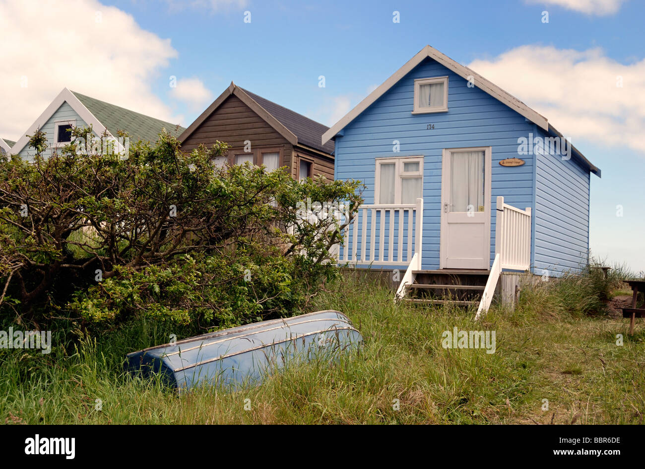 Große Deluxe Beach Hut Stockbild