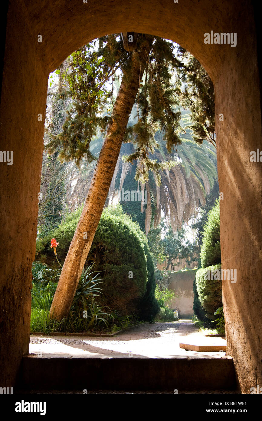 Eingang zur Kasbah in Chefchaouen, Marokko, Nordafrika Stockbild