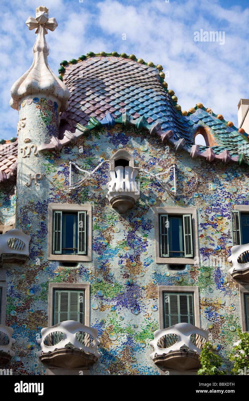 Casa Batllo, Barcelona, Spanien Stockbild