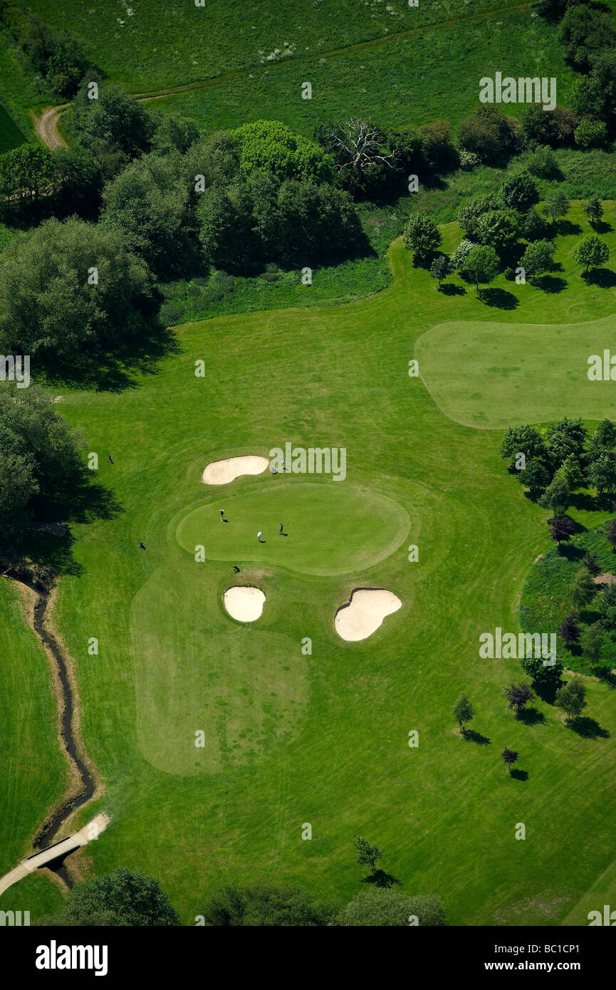 Grün im Barlaston Golf Club, Stein Staffordshire, UK Stockbild