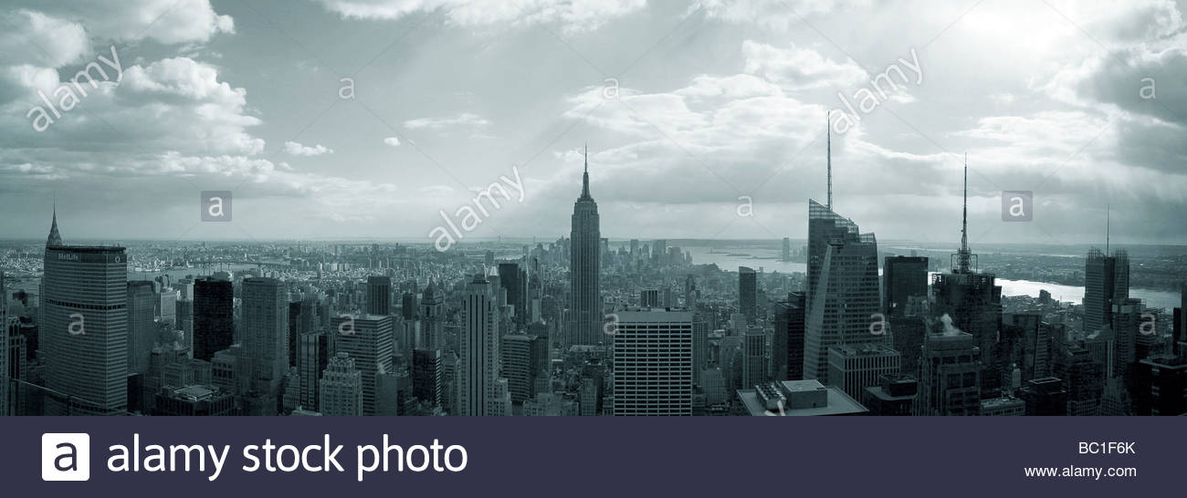 NYC_Panorama Stockbild