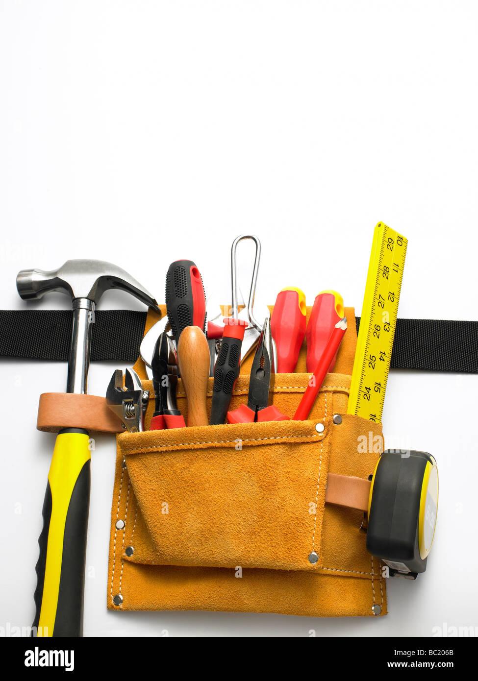 Nahaufnahme der Werkzeuggürtel Stockbild