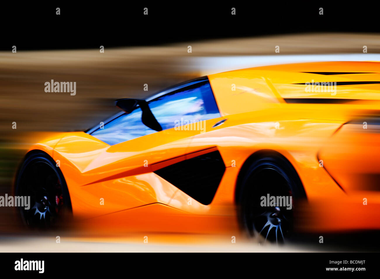 Orange super Auto Stockbild