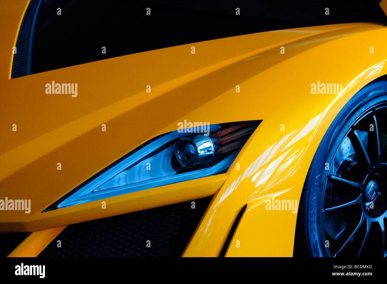Orange super Auto Stockbild