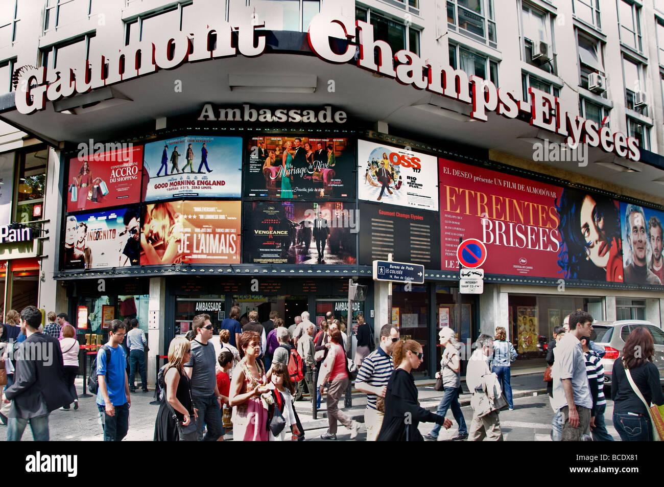 Anenue Des Champs Elysees Paris Kino Filme Kino Bilder Stockbild