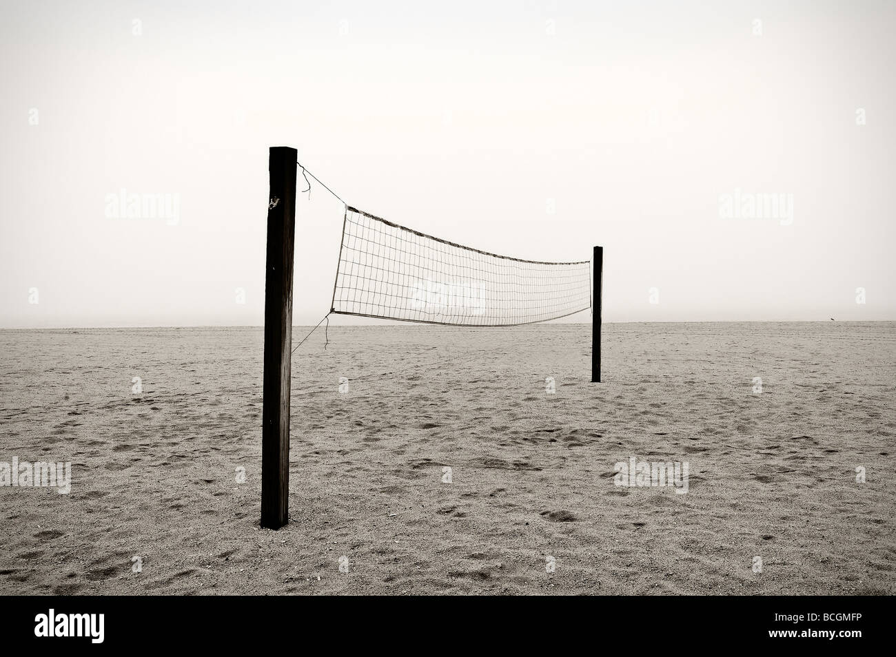 Beach-Volleyball-Netz Stockbild