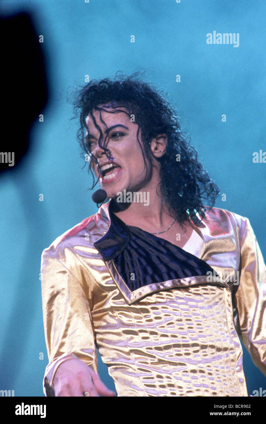 MICHAEL JACKSON im Wembley-Stadion London Juli 1997 Stockbild