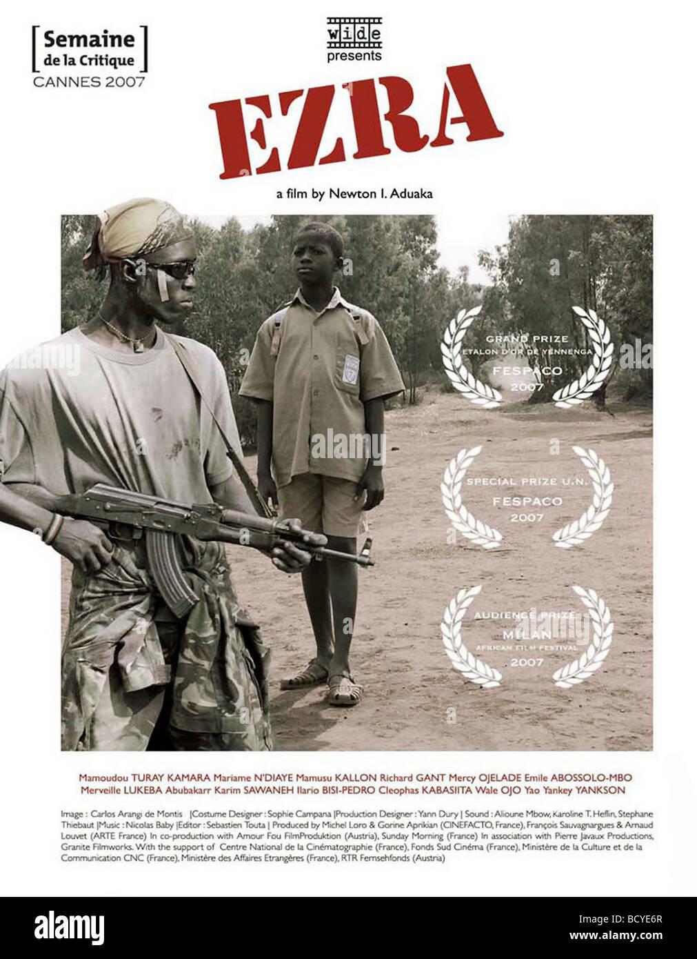 Ezra Jahr: 2007 Direktor: Newton I Aduaka Filmplakat Stockbild