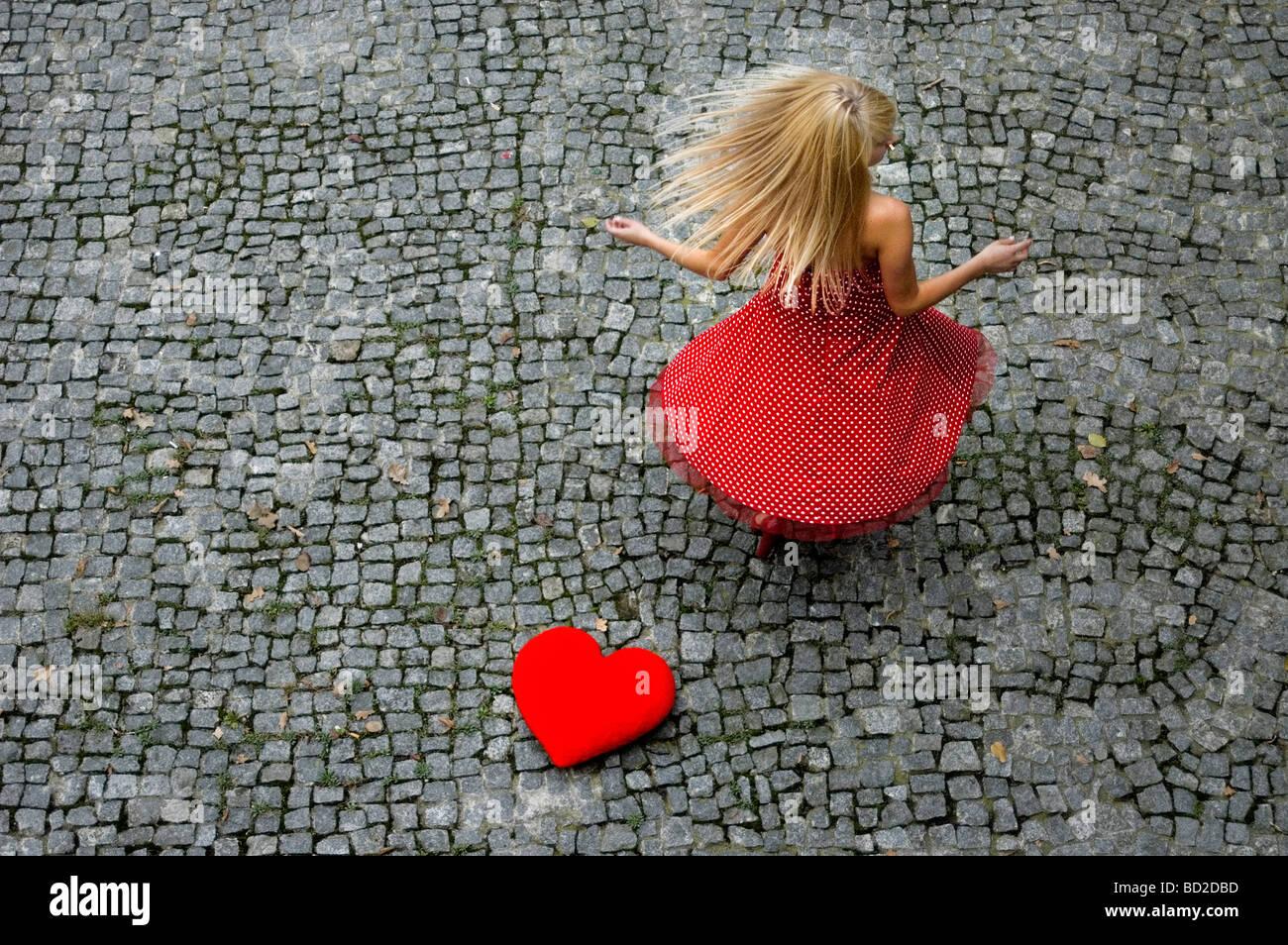Warten auf Liebe Stockbild