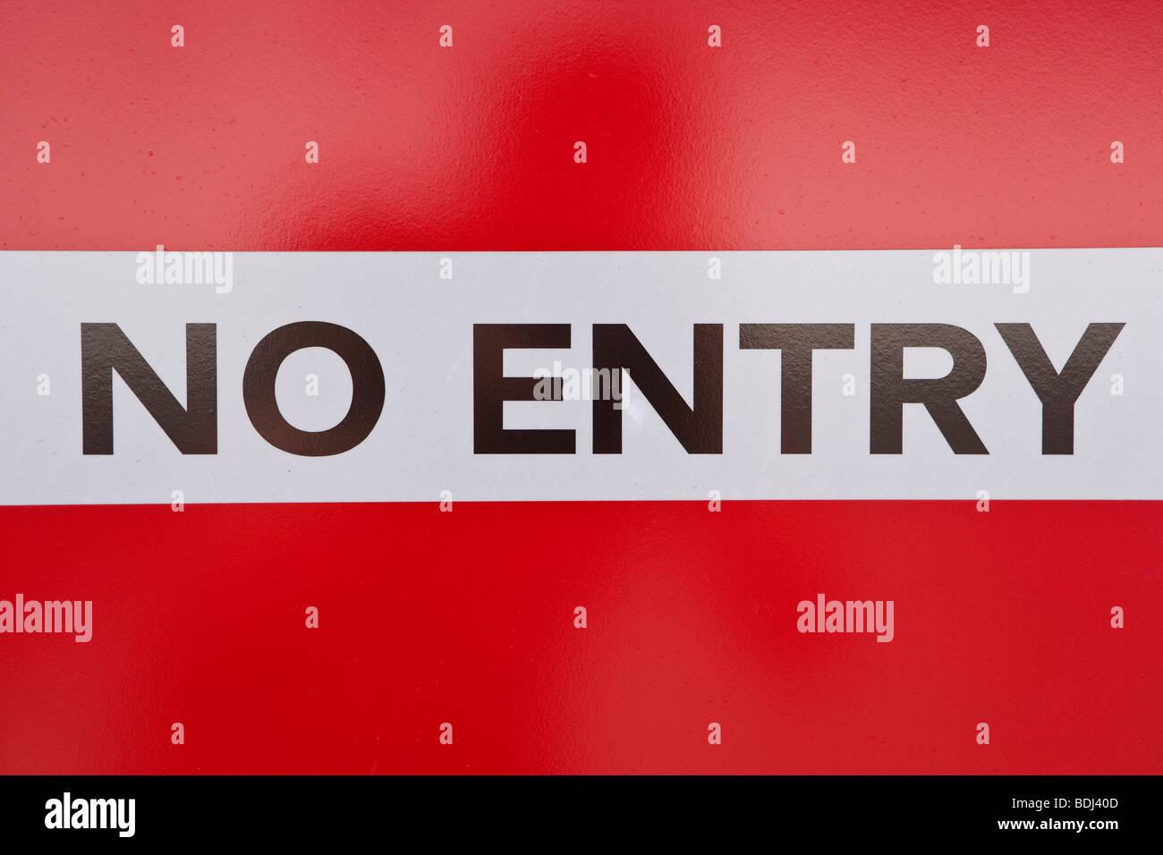 Bermuda, Atlantik, historische Stadt von St. George's, No Entry Zeichen Stockbild