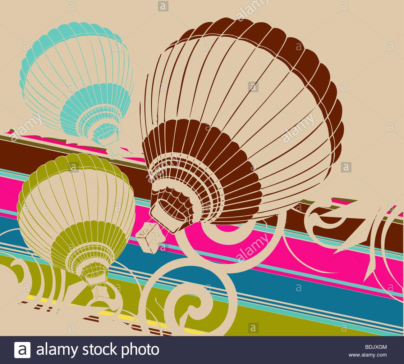 Urban Art Illustration, Vektor-Datei leicht zu bearbeiten oder Farbe zu ändern. Stockfoto