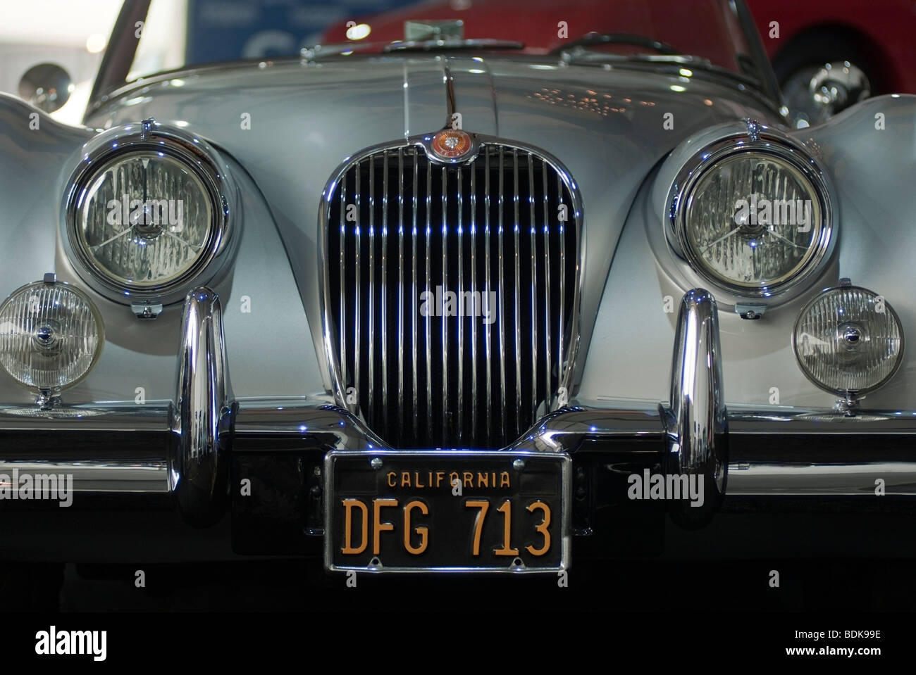 1959 Jaguar XK150 S 3,4-Liter-Roadster auf dem Display in das Gooding & Firma Zelt beim 2009 Pebble Beach Concours Stockbild