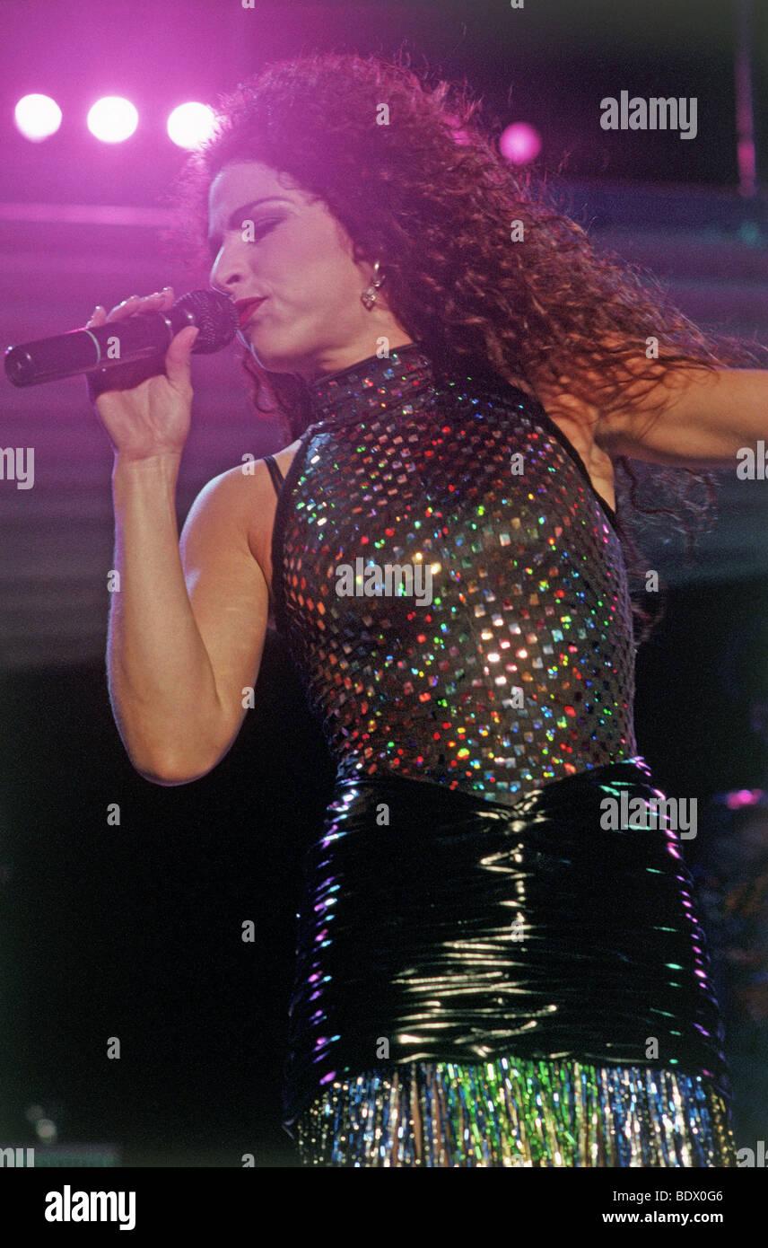 GLORIA ESTEFAN - Latein-amerikanischen Sänger Stockbild