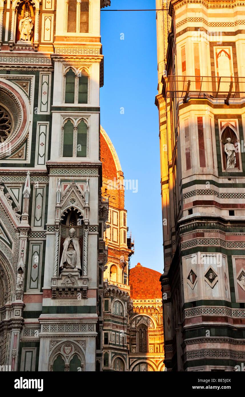 Abend am Duomo in Florenz Toskana Italien Stockfoto