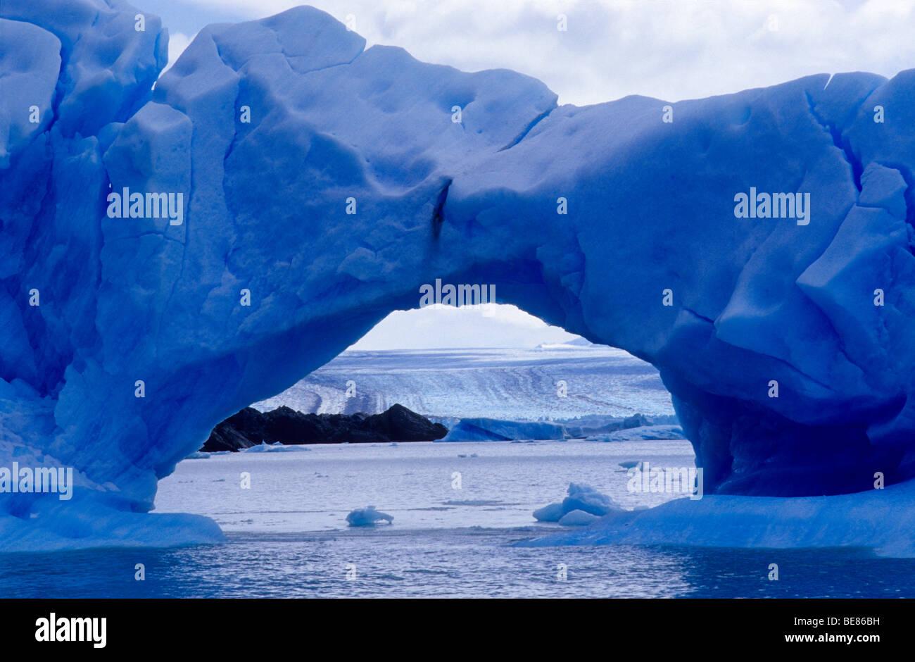 Eisberge in der Nähe von Upsala Gletscher. Lago Argentino. Nationalpark Los Glaciares. Provinz Santa Cruz. Stockbild