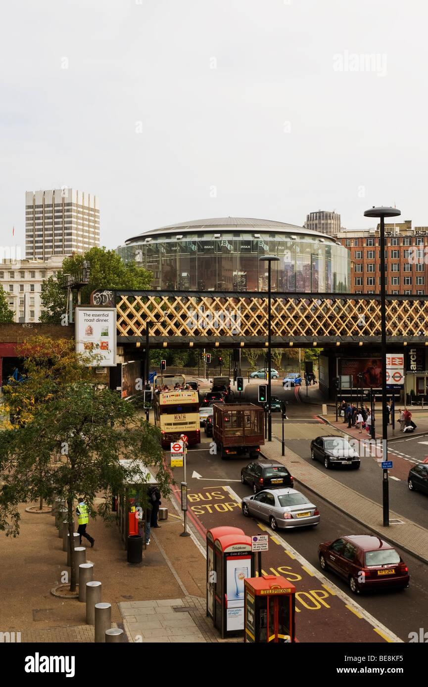 Die Londoner BFI IMAX Kinokomplex. Foto von Gordon scammell Stockbild