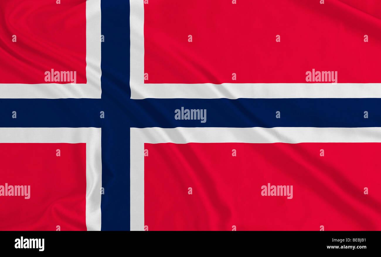 Flagge Norwegens Stockbild