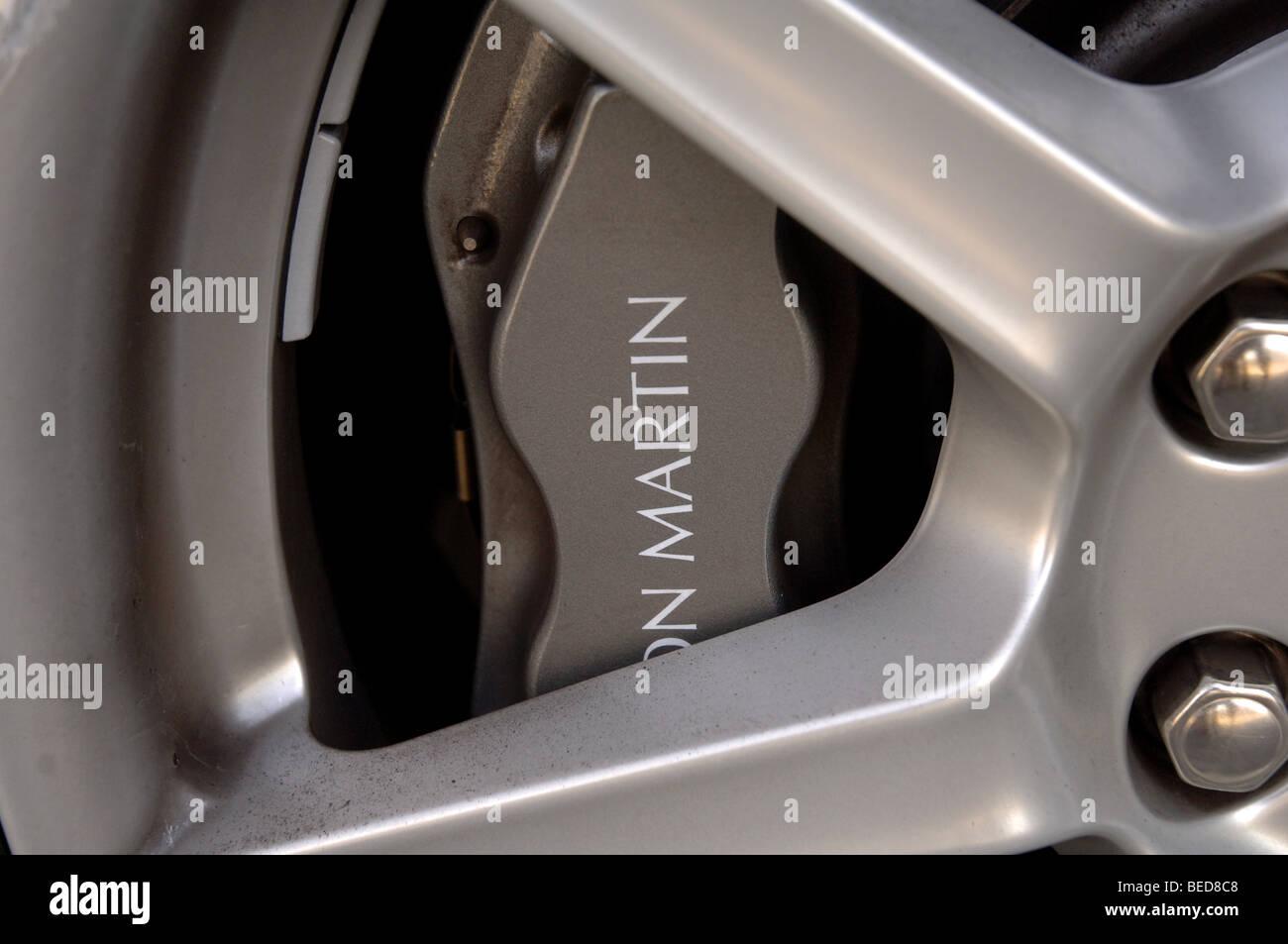 Aston Martin Roadster Räder Stockbild