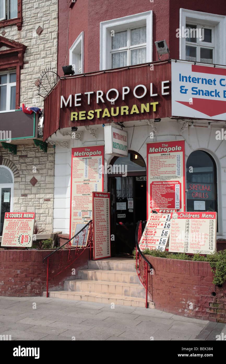 Metropole Restaurant, Marine Parade, Great Yarmouth Stockbild
