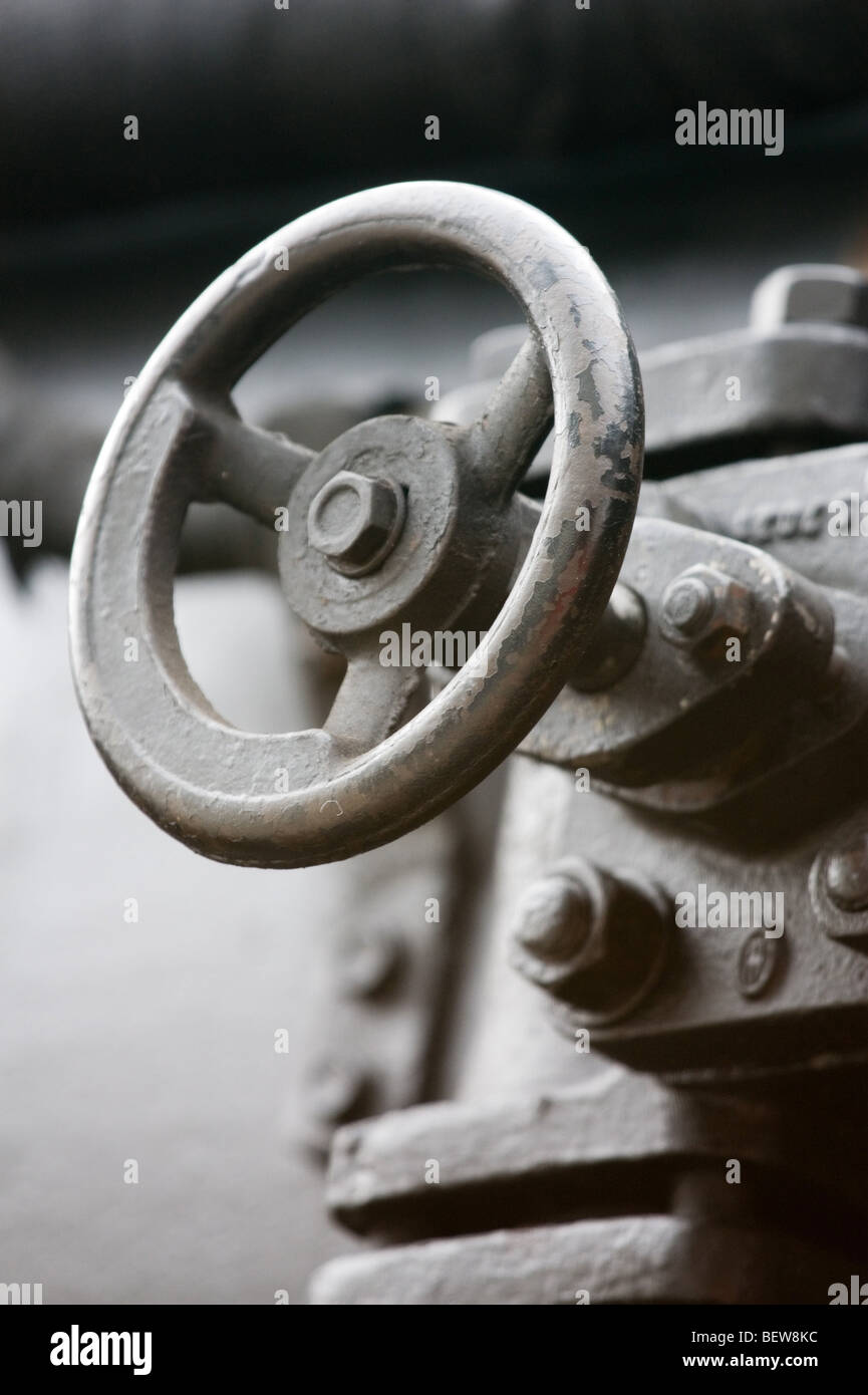 Nahaufnahme des Ventils der Traktion Schienenfahrzeug Stockbild