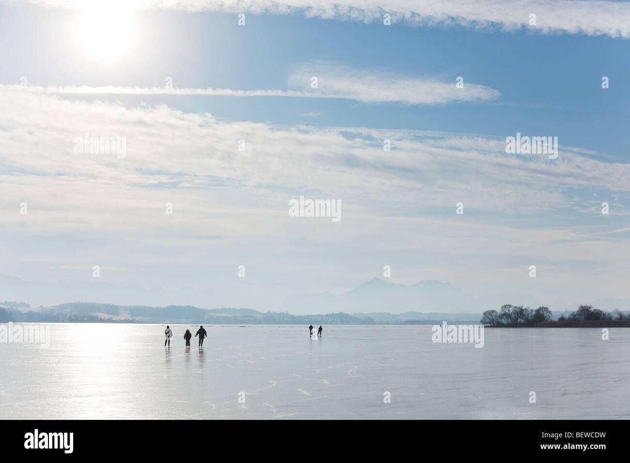 gefrorenen See Waller, Österreich Stockbild