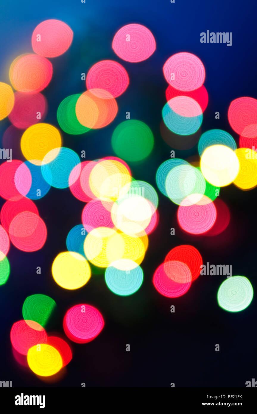 Out of Focus bunte Weihnachten heller Hintergrund Stockbild