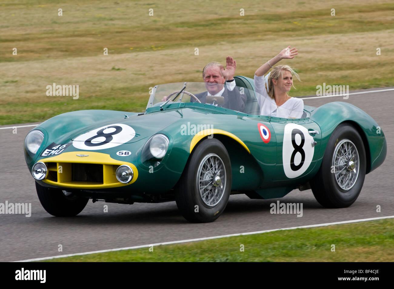 1956 Aston Martin DB3S/9, 46 EMU, während der Stirling Moss 80. Geburtstagsfeier an der 2009 beim Goodwood Stockbild