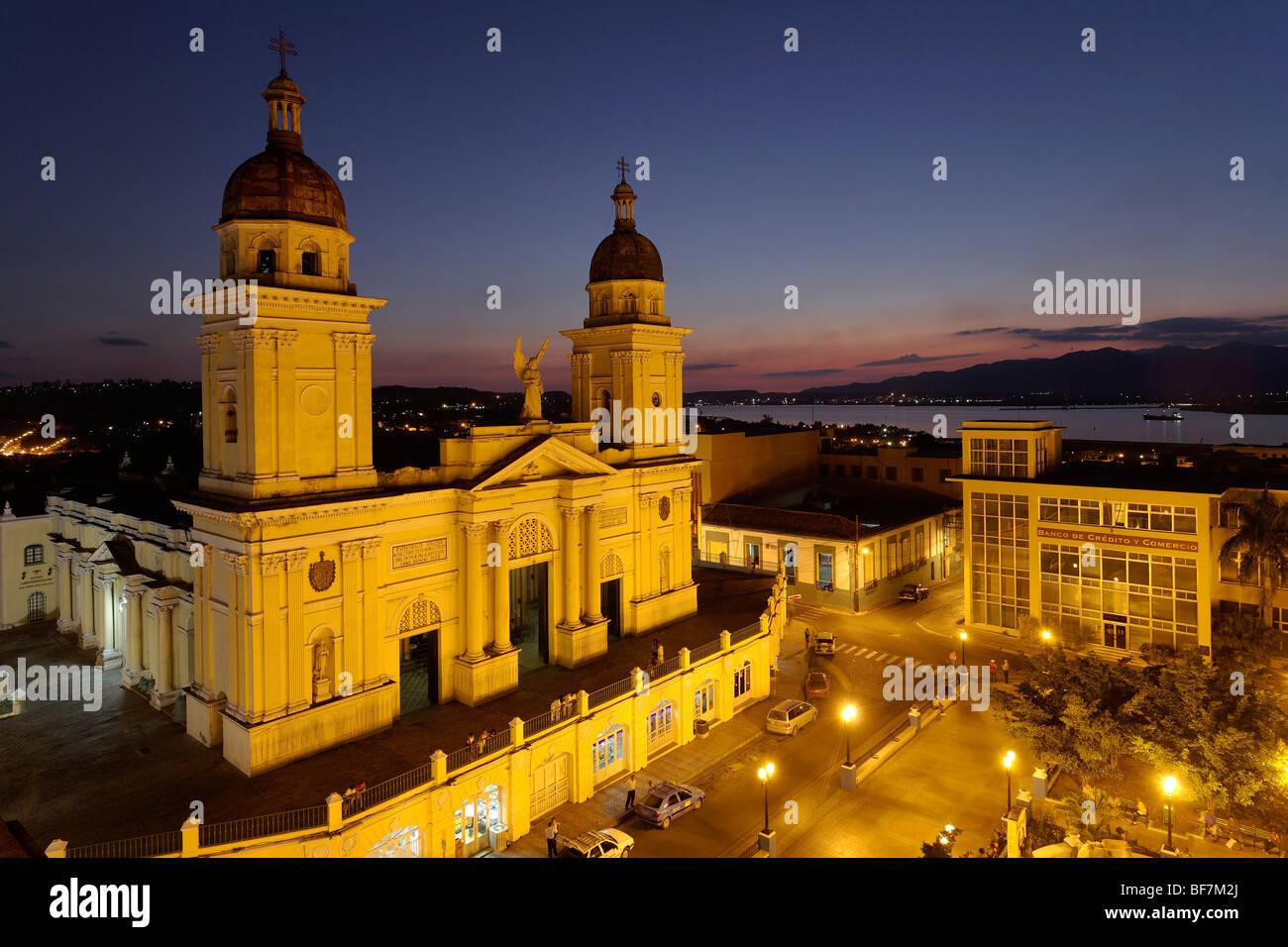 Catedral de Nuestra Señora De La Asunción, Santiago De Cuba, Santiago De Cuba, Kuba, Westindische Inseln Stockbild
