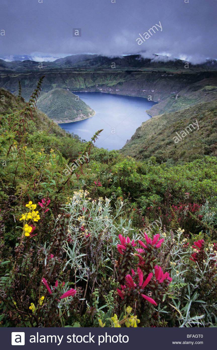 Hochland vulkanischen See, Ecuador Stockbild
