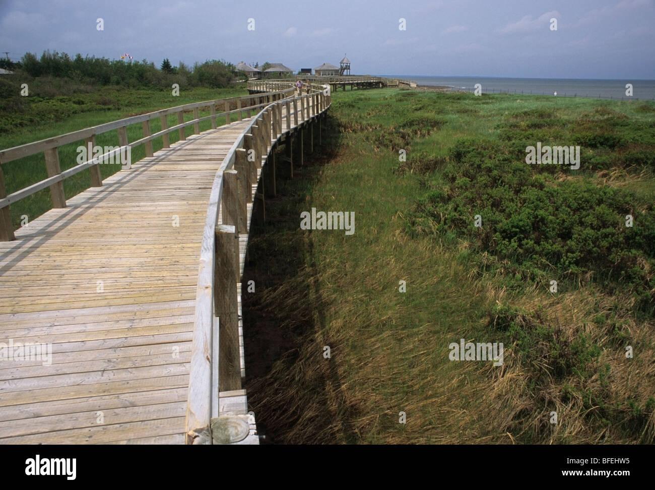 Irving Eco-Center, Buctouche Bay, New Brunswick, Kanada Stockbild