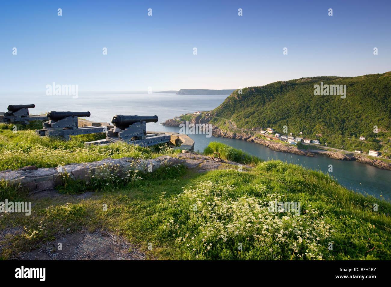 Blick vom Signal Hill, National Historic Site. St. John's, Neufundland, Kanada Stockbild