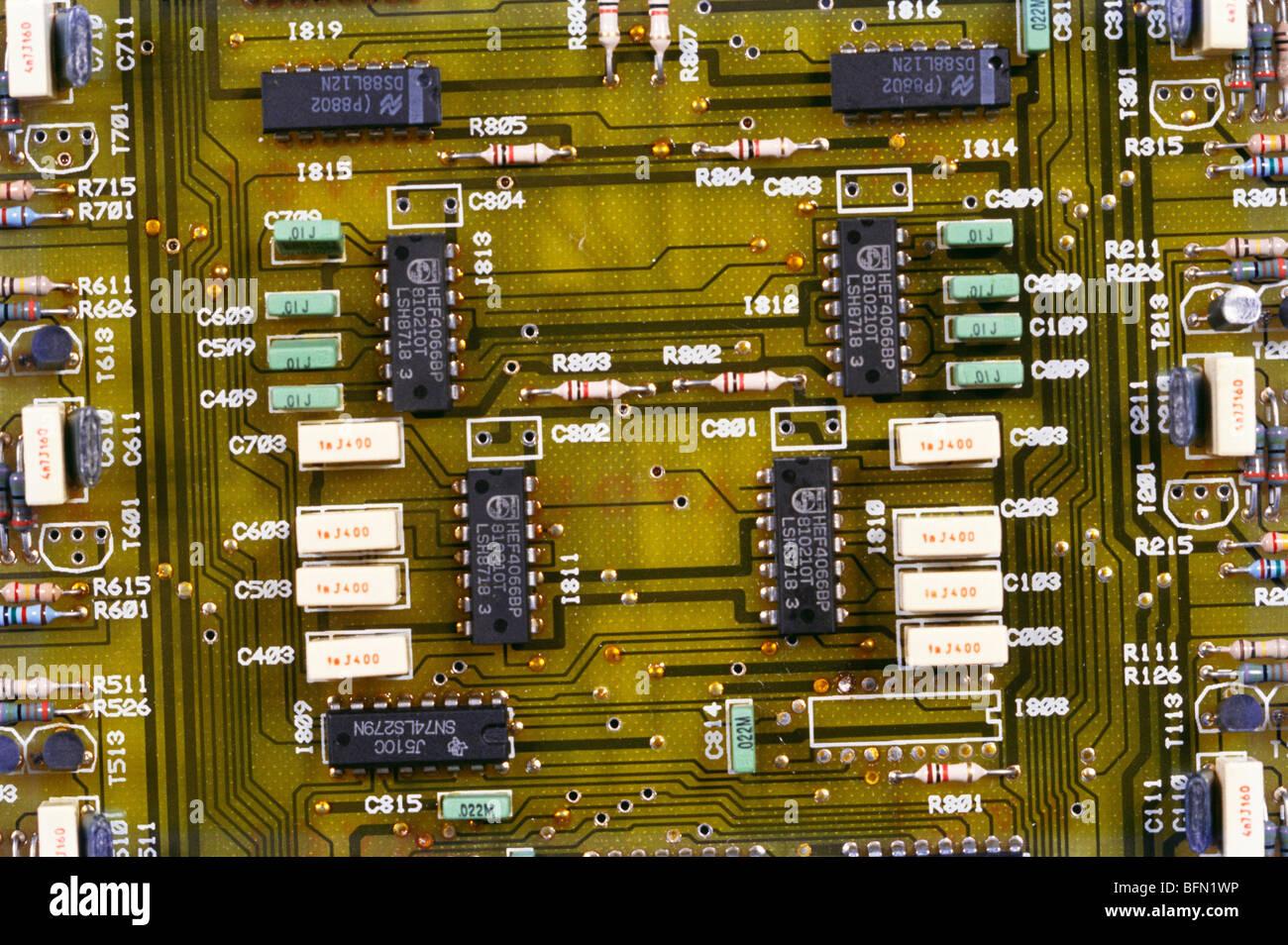 RJP 61272: PCB Elektronik Platine; Indien Stockbild